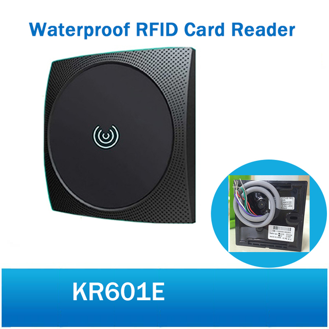 US $18 8 20% OFF|ZKTeco KR601E Wiegand Card Readers 125kHz Mifare card  reader Access Control Reader Smart Reader KR601-in Control Card Readers  from