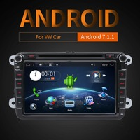Capacitive and Multi touch Screen Pure Android 7.1 8 For VW AMAROK 2din Car DVD GPS Player 3G Wifi ,Radio,USB,BT Hot Sale