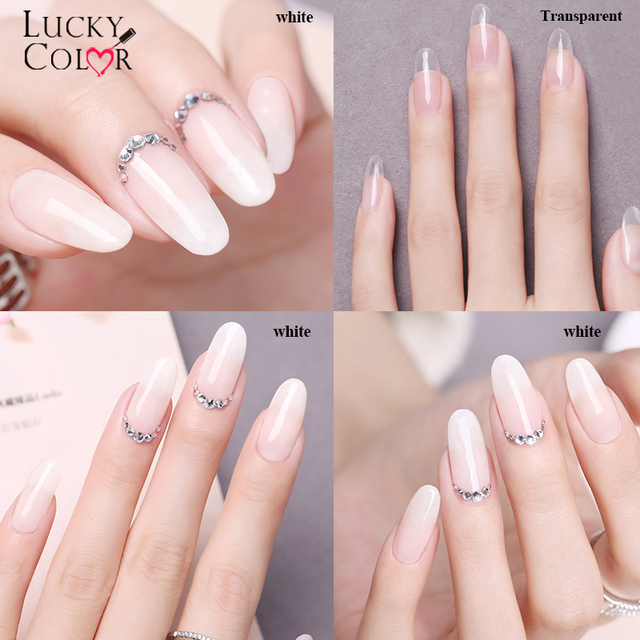 Lucky Color 2018 New Quick Building Gel Nail Tips Finger Extension ...