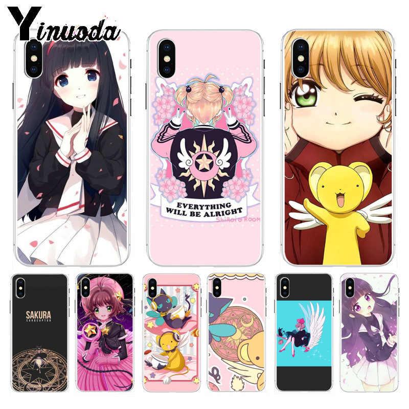Yinuoda карта Captor Сакура КИНОМОТО DIY Окрашенные красивые аксессуары для телефонов Чехол для iPhone 8 7 6 S Plus X XS max 10 5 5S SE XR