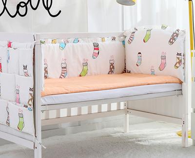5PCS Baby Bed Bumpers Cotton Baby Bedding Set cosas para bebe Bed Sheet infant nursery bedding,(4bumper+sheet)