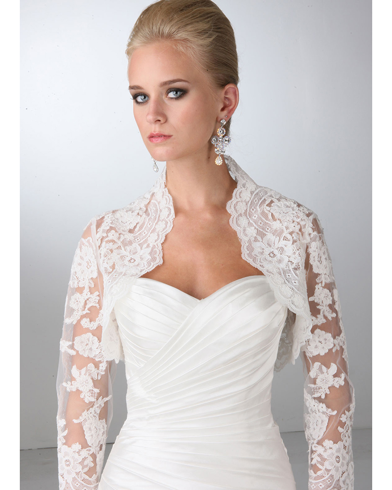 Online get cheap dresses bolero alibaba for Wedding dress lace bolero