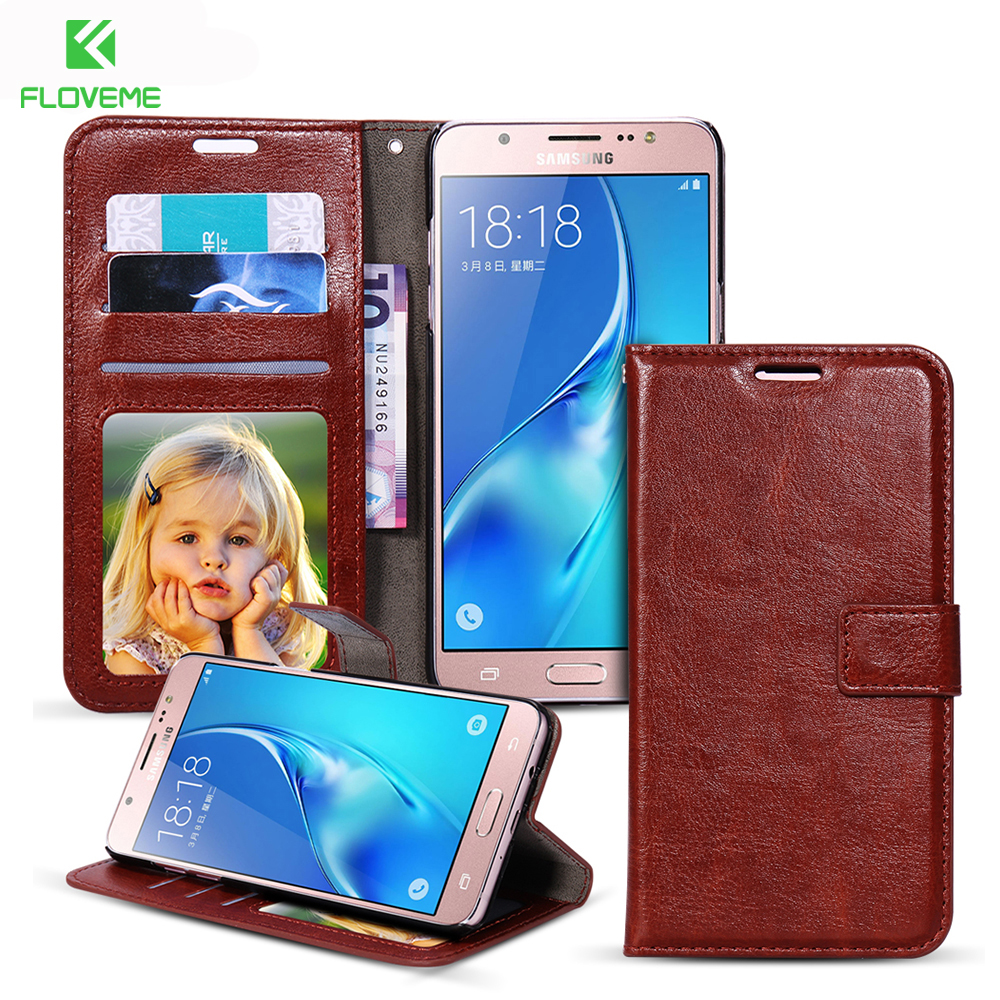 FLOVEME For Samsung Galaxy J1 2016 J5 J510 J510F J7 J710 Case PU Leather Flip Wallet Cover For Samsung Galaxy A5 A3 A7 2016 Bag
