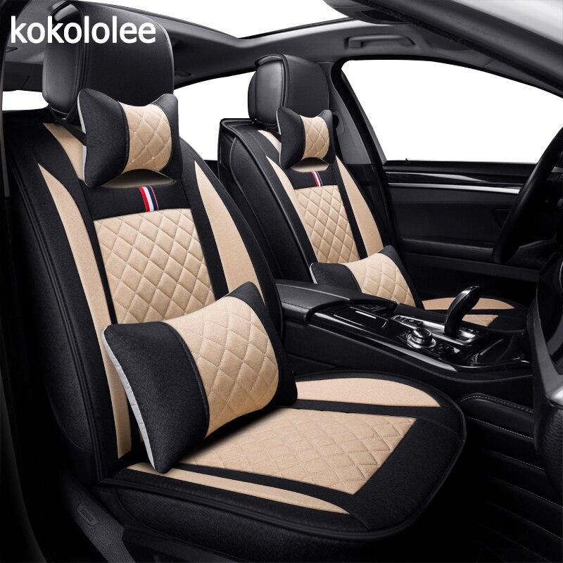 KOKOLOLEE housse de siège de voiture pour toyota volkswagen RAV4 skoda rapide Lexus ES EST LS RX NX LX Prado Kia auto accessoire de voiture de coiffure