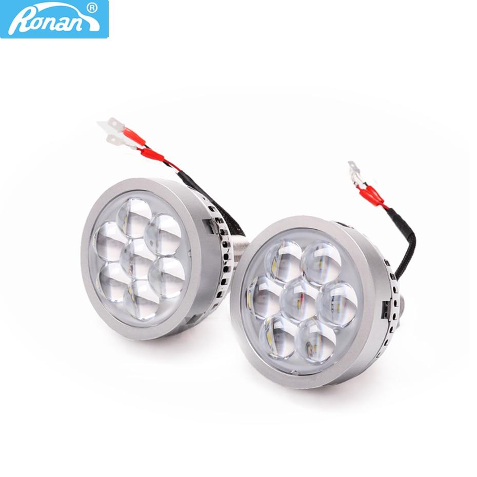 Ronan 3 0 inch Universal LED high beam projector lens for car retrofit devil eyes white