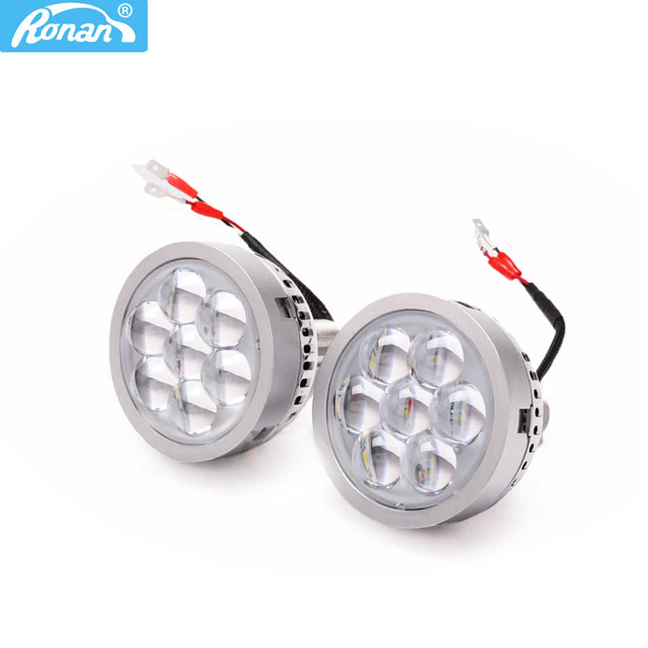 Ronan 3.0 inch  Universal LED high beam projector lens for car retrofit devil eyes white red blue headlight H1 H4 H7 9005 bulb