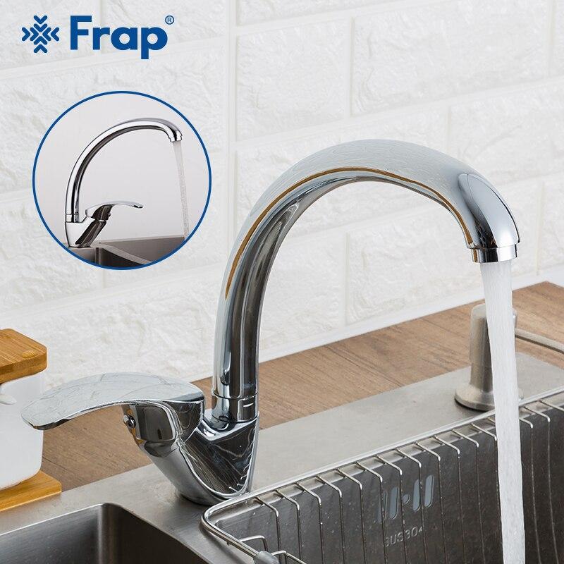 Frap grande promoção liga de zinco deck montado torneira da pia cozinha de água fria e quente 360 graus swivel mixer torneiras