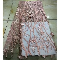 Tulle Beaded Lace Fabrics 2018 Lace Fabric Pink Latest Nigerian Fabric French Lace Embroidered Dubai Lace Fabric For Party
