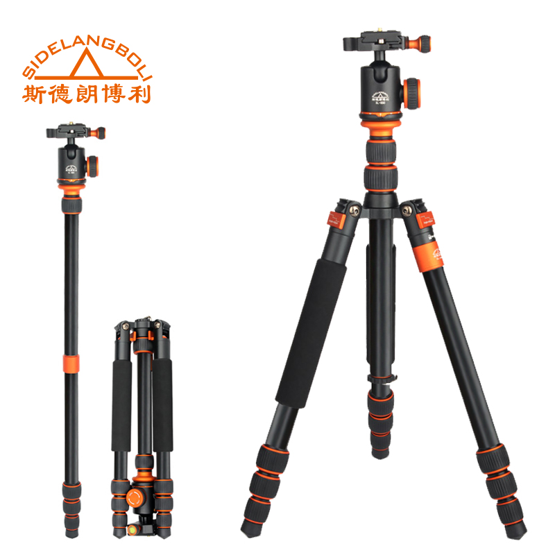 SL288A 57 Professional Lightweight Compact Aluminum Travel Tripod Monopod Stand For DSLR Camera with Ball Head & Tripod Bag aluminium alloy professional camera tripod flexible dslr video monopod for photography with head suitable for 65mm bowl size