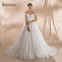 Robe de soiree longue 2020 fora das alças de ombro a linha vestidos de casamento novas fotos reais