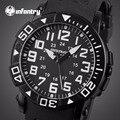 Homens de quartzo relógios relojes infantry aviador militar rubber strap 30 m à prova d' água esportes relógios relógios de pulso de exibição de 24 horas