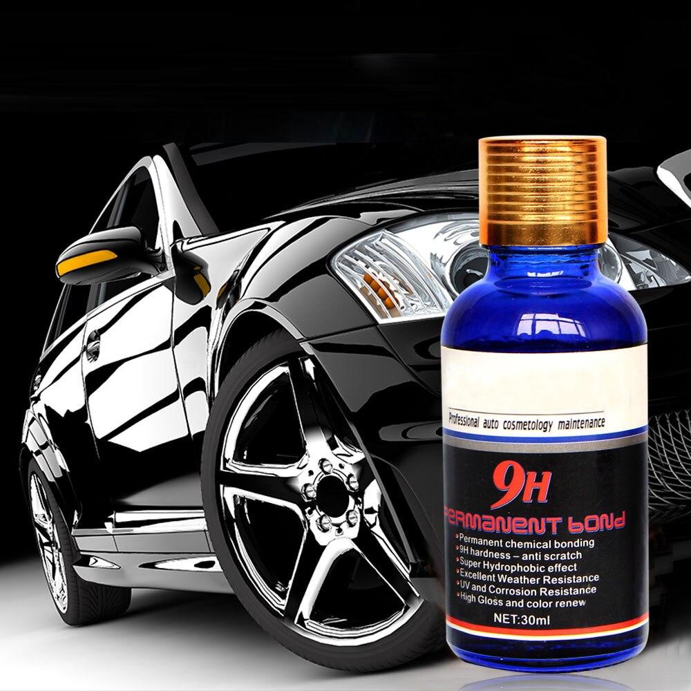 9 H Cerâmica de Revestimento Do Carro Pintura Moto Car Care Líquido Hidrofóbico Nano Carro Polonês Auto Detalhamento Revestimento De Vidro De Água de Vidro