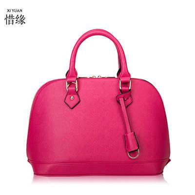 Новинка 2017 года Модные женские брендовые сумки из натуральной кожи большой емкости короткие женские сумки на плечо черный/оранжевый/фиолетовый/желтый/розовый