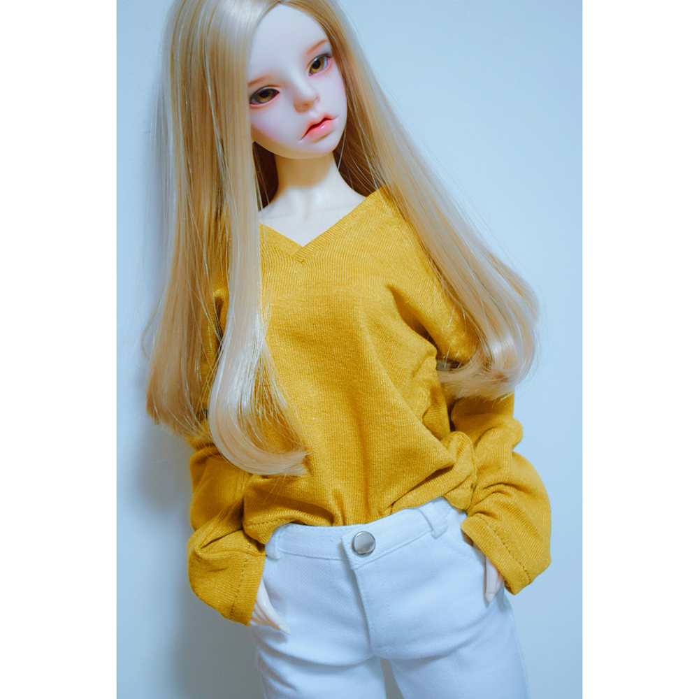 BJD DOLL Yellow Sweater Outfits Clothing Top For 1/4 17
