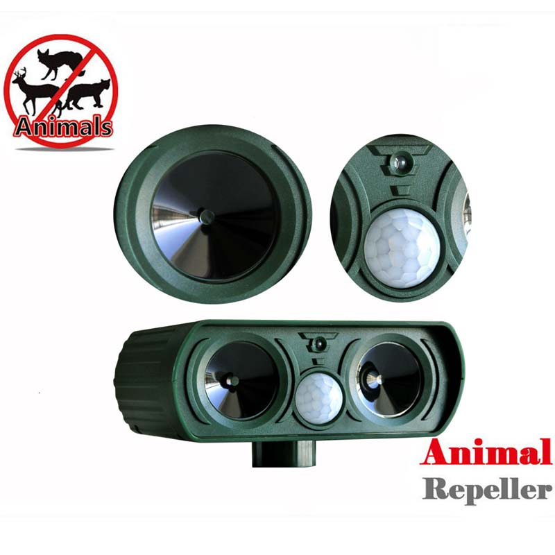 Pest Control Outdoor Reject Repeller Animals Repellent Pest Solar Power Ultra Sonic Scare 25kHz Cat Dog Scarer Outdoor Garden
