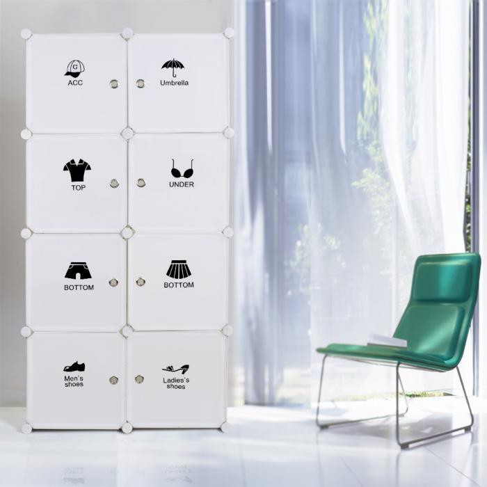 Self Assemble Furniture portable clothes closet wardrobes freestanding storage organizer