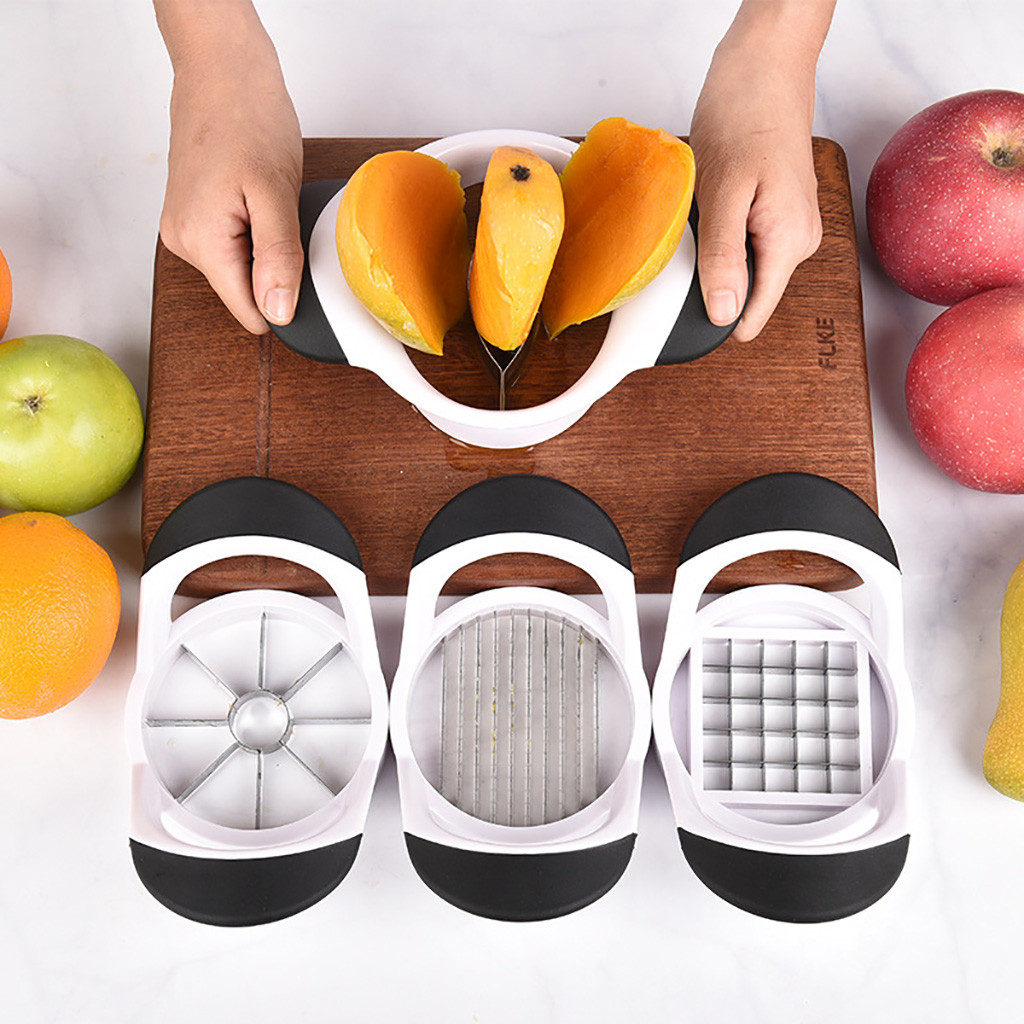 1pc Stainless Steel Mango Apple Cuter Kitchen Mango Splitter Fruit Divider Kitchen Gadget Peach Slicer Cutter Kitchen Tools #LR1