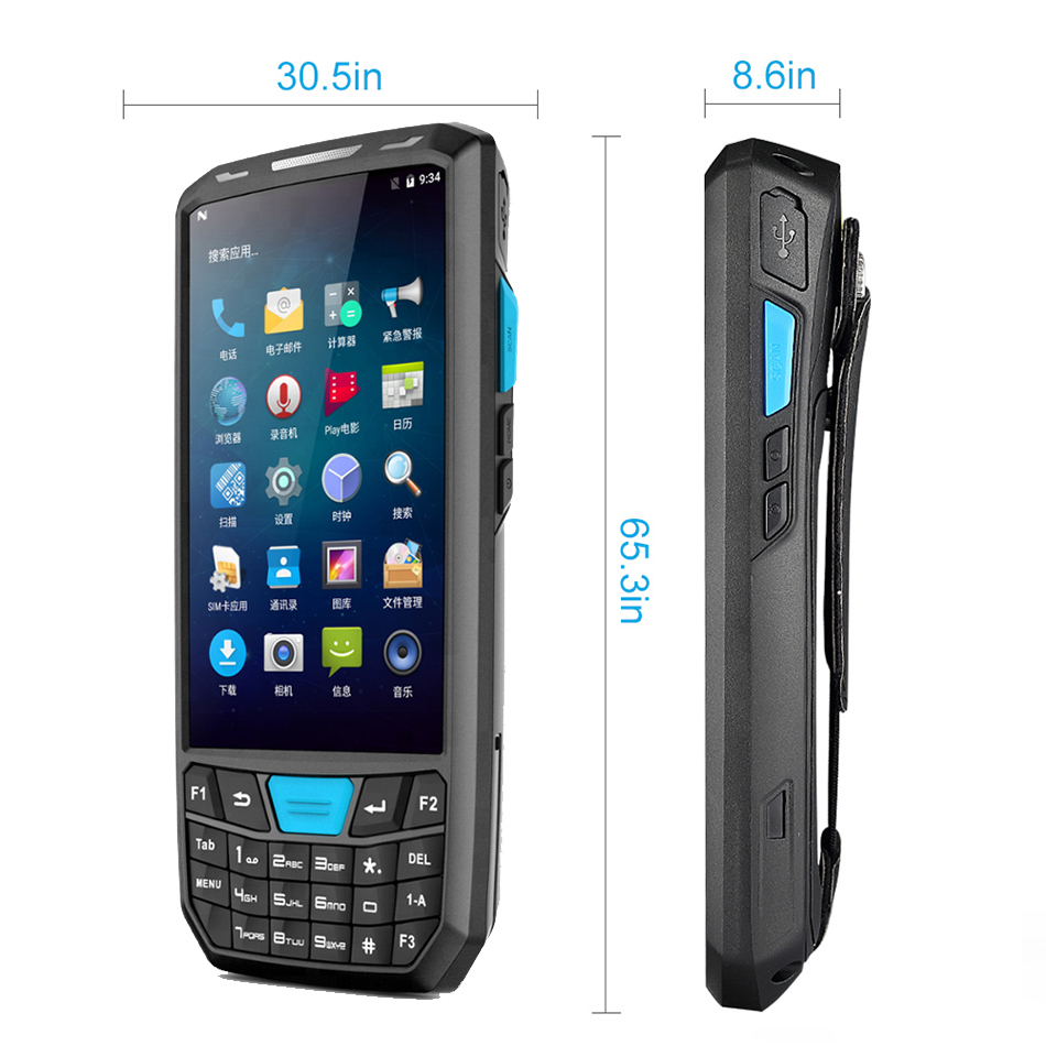 New Android 7 PDA Rugged Handheld Terminal Data Collector Terminal Wireless 1D 2D QR Laser Barcode Scanner Reader Terminal 4G industrial rugged handheld data collector wireless 4g mobile data terminal 1d 2d laser barcode scanner android pda device