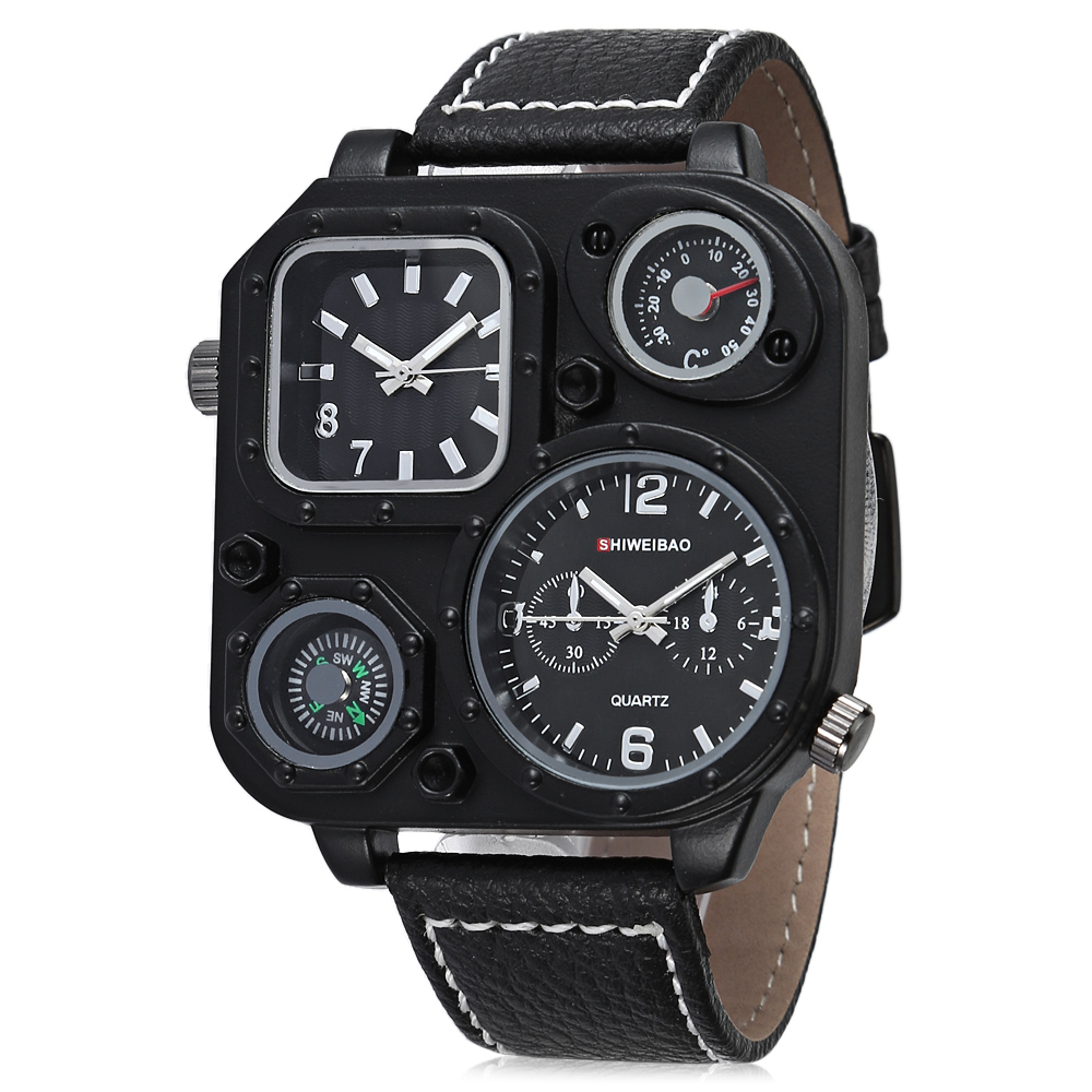 DUAL TIME ZONES ARMY MILITARY WATCHES FOR MEN QUARTZ WATCH FREE SHIPPING LUXURY BRAND DZ CLOCK MAN drop shipping (8)