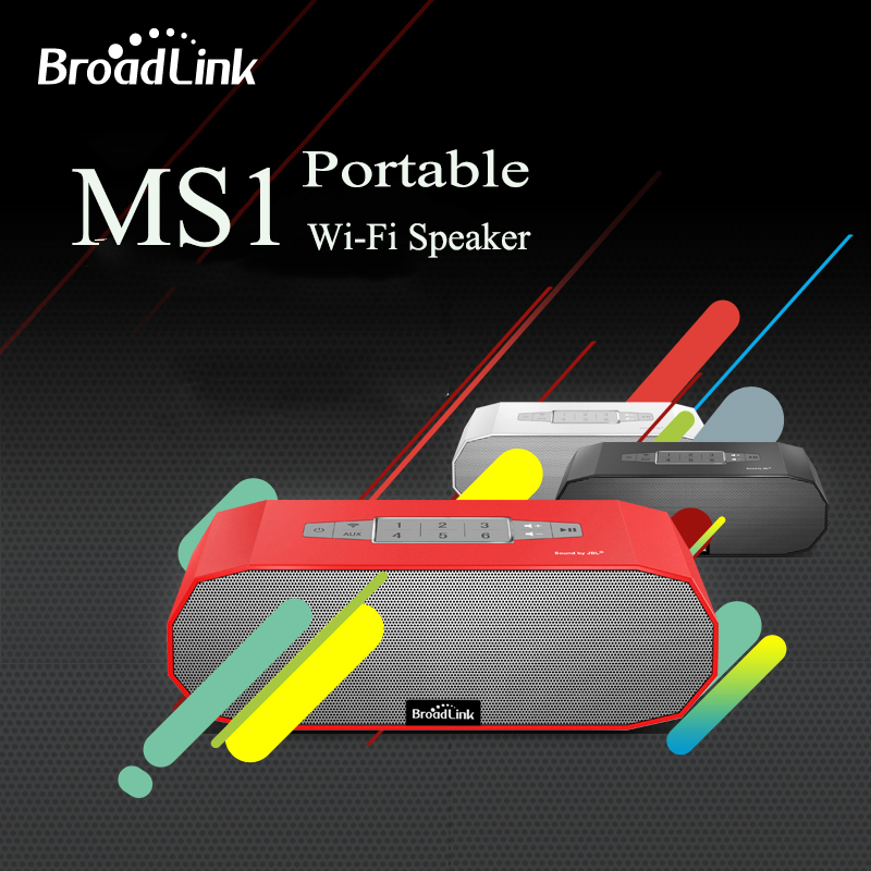 Hot BroadLink MS1 Speakers Wireless Mini Portable Intelligent Home Audio System Ndfeb Magnet Dual Stereo +Dual Passive Radiator 2017 hot bluetooth multi function audio intelligent family host background music system lcd screen touch light dimmer 2 speakers