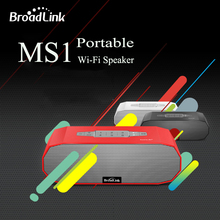 Heißer BroadLink MS1 Lautsprecher Wireless Mini Tragbare Intelligente Heim-audiosystem Ndfeb Magnet Dual Stereo + Dual Passiver Kühler