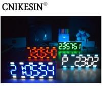 CNIKESIN DIY 6 Digit LED Large Screen Two Color Digital Tube Desktop Clock Kit Touch Control