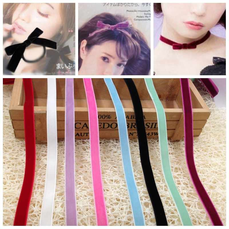 5M/9mm Wide Ribbon Webbing Collar Fabric Sewing Applique DIY Bows Velvet Satin Ribbon Trim Decoration kurdela wstazka L-24