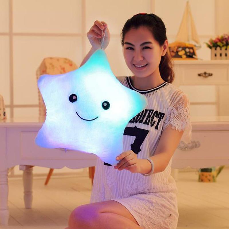 Hot Creative Light Up LED Star Luminous Pillow Wypchane zwierzęta - Lalki i wypchane zabawki - Zdjęcie 6