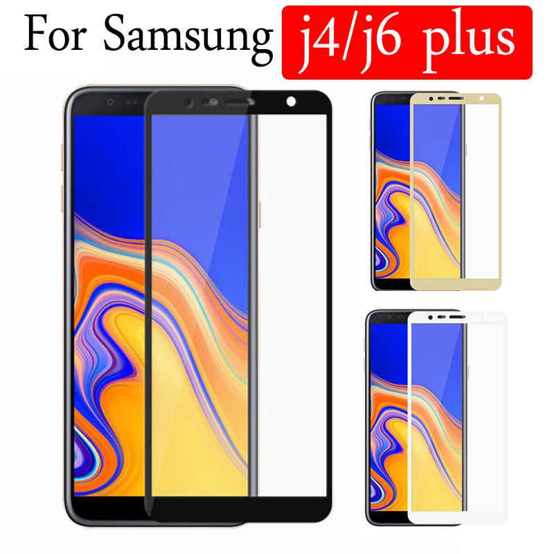 زجاج واقي على سامسونج j6 j4 plus واقي للشاشة Galaxy j6plus j4plus خفف من الزجاج Samsun Samsong galax Galxy 9H