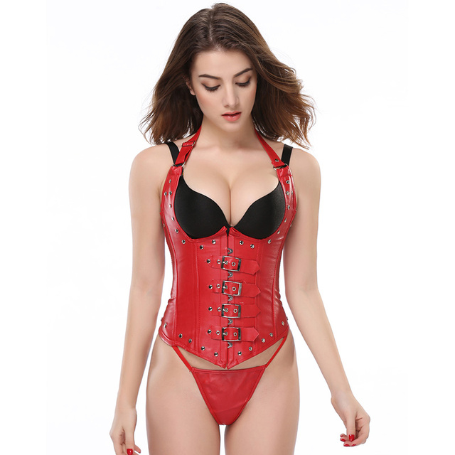 755d7e6c711b European Style Imitation Leather Open Bra Corset Underbust Sexy Women Waist  Cincher Slimming Shapewear Bodysuit Plus