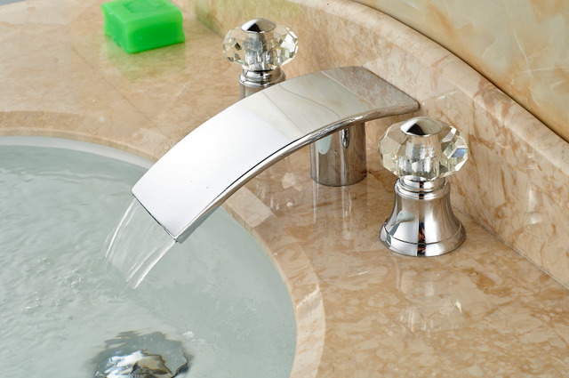 Wholesale And Retail Promotion Chorme Big Waterfall Faucet Elegant - Wholesale bathroom fixtures