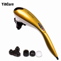 YihCare Infrared Electric Dolphin Massager Body Leg Neck Massage Hammer Vibration Stick Roller Cervical Vertebra Massager Device