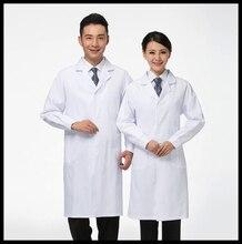 Врачи белом халате женщин/мужчин медицинская униформа одежда для