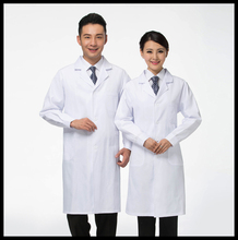 Free Shipping White Lab Coat Medical Clothes Doctors Uniforms for Women Men