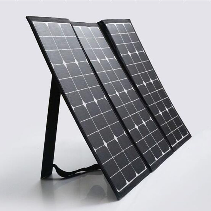 100 watts celular Monocrystaille silicon portable and foldable solar panel 12V 10A Charge Controller and Connector