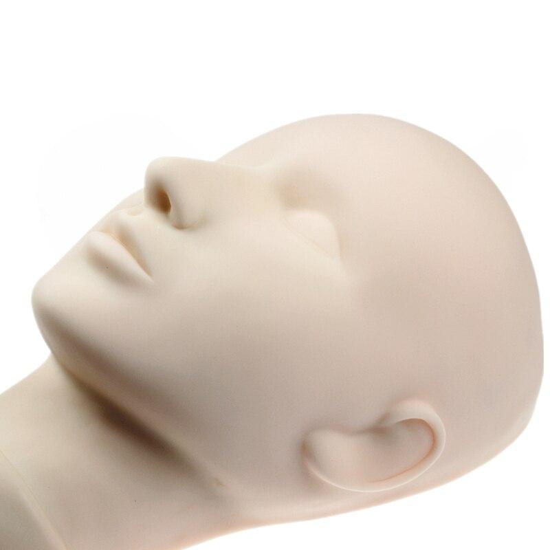 Mannequin tête pour maquillage pratique mannequin tête pour cils Mannequin de Formation Head Fermé Pratique Modèle De Massage Tête Factice