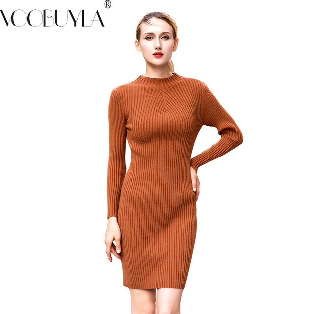 Orange Jersey Knit Dresses