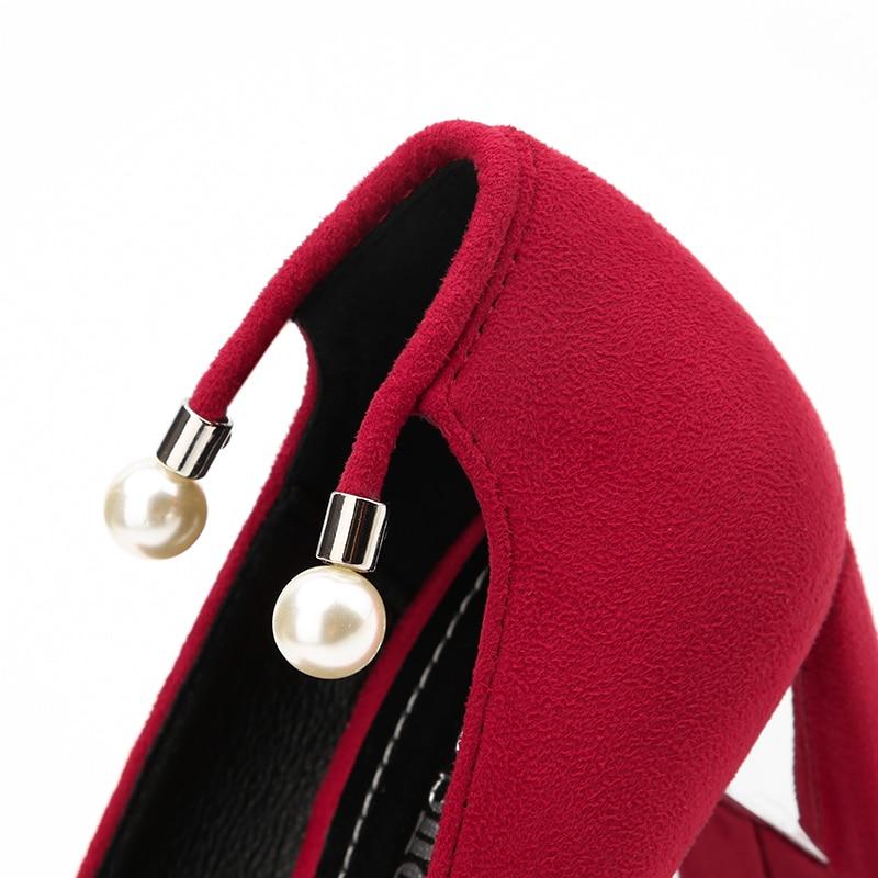 Zapatos Para Tacón amp; Mujer rojo Rojos Negro Las gris Henlu} Alto De Extraño {d Mujeres marrón Bombas Fiesta Grueso Estilo qx4daXPctw