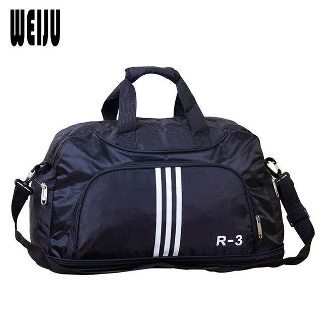 WEIJU Men Travel Bags Large Capacity Travel Duffle Bag Casual Nylon Waterproof Luggage Duffle Bags Shoulder Bag YA0516
