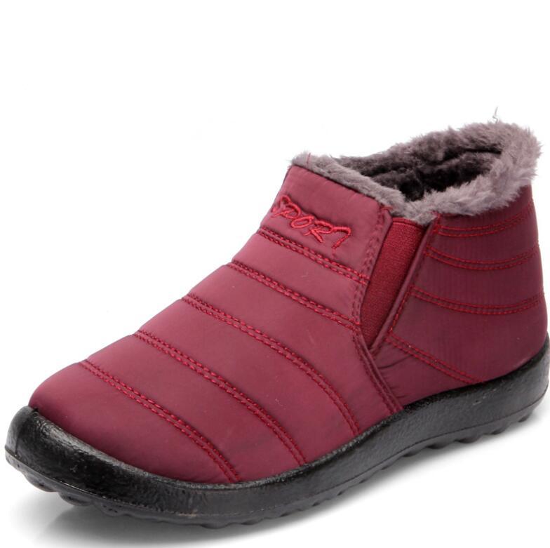 Para Invierno Interior 2019new Impermeable Tela Esquí Botas Mujer Impermeables Calientes Felpa De Antideslizante Zapatos Mantener Inferior red Nieve Black Color Sólido gqXI4q