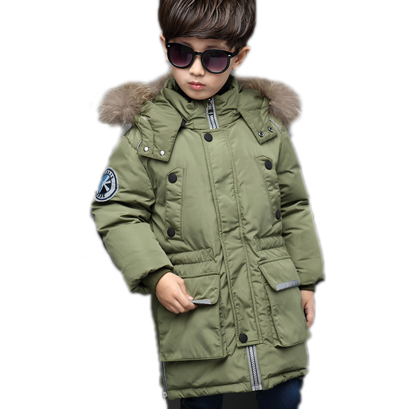 2017 baby parka boy winter medium long thicken warm baby boy jacket winter solid hooded boys winter coat winter jacket boy 6-13T saf thicken warm winter coat hood parka overcoat long jacket outwear