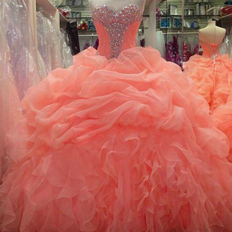 Popular Coral Quinceanera Dresses-Buy Cheap Coral Quinceanera ...