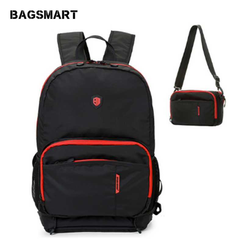 BAGSMART Multifuctional складной рюкзак Водонепроницаемый Для женщин Для мужчин дорожные сумки Повседневное путешествия рюкзак сумка школьная сумка