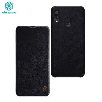 Nillkin Case for Samsung Galaxy A10 A10S A20 A30 A40 A50 A60 A70 Qin Series PU Leather Flip Cover For Samsung Galaxy A30 Case
