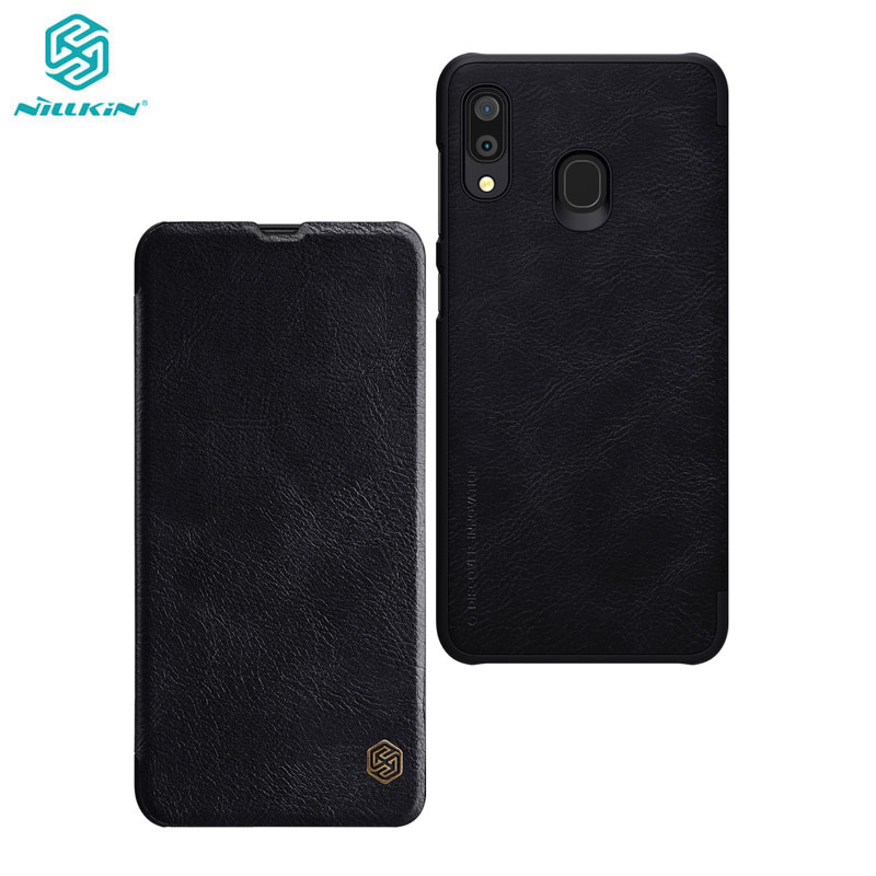 Nillkin <font><b>Case</b></font> for <font><b>Samsung</b></font> Galaxy A10 A10S A20 <font><b>A30</b></font> A40 A50 A60 A70 Qin Series PU Leather <font><b>Flip</b></font> Cover For <font><b>Samsung</b></font> Galaxy <font><b>A30</b></font> <font><b>Case</b></font> image
