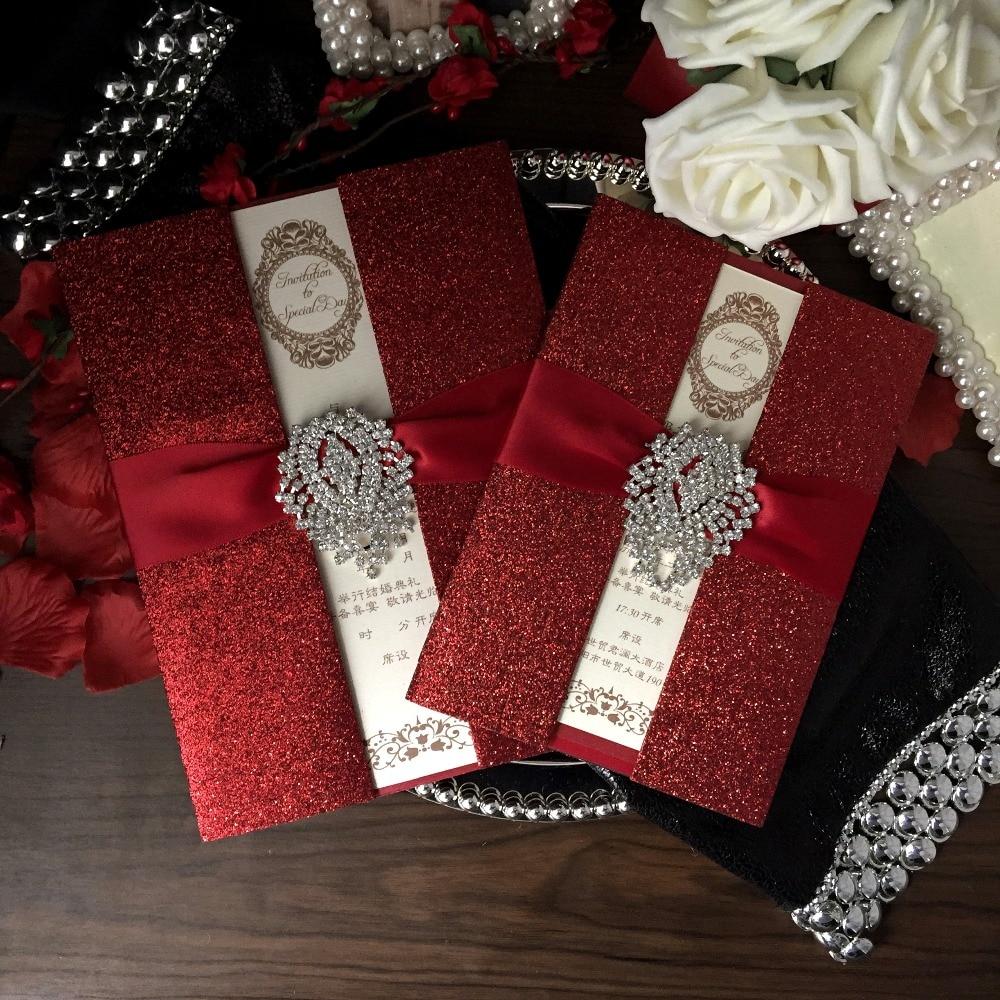 Red Wedding Invitations, Bridal Shower Invitation, Luxury Wedding ...