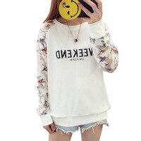 Camiseta Donna Estive Novo Fim de Semana Letra Impressa Net Fios Manga Comprida de Algodão Camisas Engraçadas de T Por Atacado