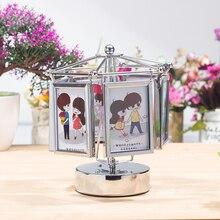 Креативная фоторамка простая современная настольная музыкальная шкатулка колесо обозрения маленькая коробка подарок на день рождения свадебный подарок