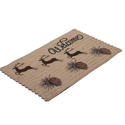 100% tapis de Jute paillasson pour porte d'entrée tapis de bienvenue salon chambre tapis de sol tapis d'intérieur décoration de la maison