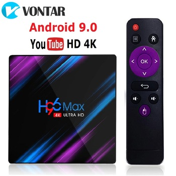 H96 MAX RK3318 Smart TV Box Android 9.0 4GB 32GB 64GB Media player 4K Google Voice Assistant Netflix Youtube H96MAX 2GB16GB